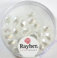 Rayher Glasperle Radl 4x8mm schneeweiß