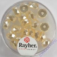Rayher Glasperle Radl 4x8mm elfenbein