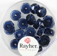 Rayher Glasperle Radl 4x8mm nachtblau