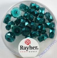 Rayher Glasperle Radl 4x8mm ind.türkis