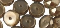 Rayher Glasperle Radl 4x8mm taupe-brown