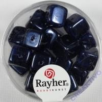 Rayher Glasperle Würfel 8x9mm nachtblau