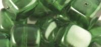 Rayher Glasperle Würfel 8x9mm maigrün