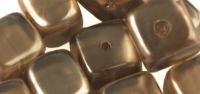 Rayher Glasperle Würfel 8x9mm taupe-brown