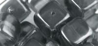 Rayher Glasperle Würfel 8x9mm anthrazit