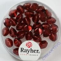 Rayher Glasperle Dreikant 7mm burgund