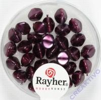 Rayher Glasperle Dreikant 7mm violett