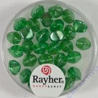 Rayher Glasperle Dreikant 7mm maigrün