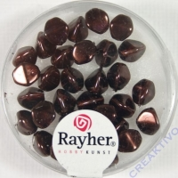 Rayher Glasperle Dreikant 7mm nougat