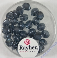 Rayher Glasperle Dreikant 7mm anthrazit