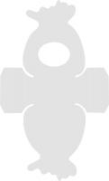 Bastel-Schablone Geschenkbeutel 7,4x9,1cm