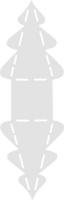 Bastel-Schablone Tannenbaum 7,8x10cm