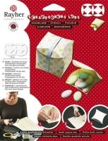 Rayher Schablone quadratische Schachtel -S- 15x8,3 cm