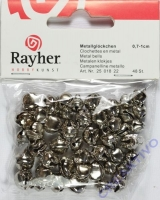 Rayher Metallglöckchen kugelförmig 7-10mm silber 48 Stück