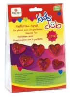 Kids Club Pailletten-Bastelsteckset Herzen