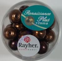 Renaissance Glaswachsperlen Großloch 10mm braun Mix