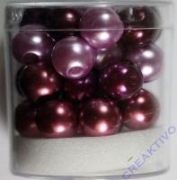 Renaissance Glaswachsperlen Großloch 10mm lila Mix