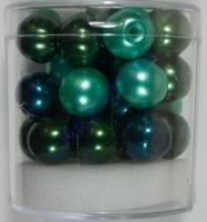 Renaissance Glaswachsperlen Großloch 10mm grün Mix