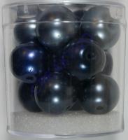 Renaissance Glaswachsperlen Großloch 14mm blau Mix
