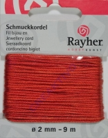 Schmuckkordel 2mm 9m orange