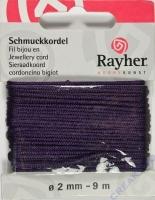 Schmuckkordel 2mm 9m lila