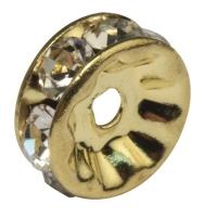 Strass-Rondelle mit Kristallsteinen 10mm gold