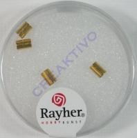 Endkappen für Lederriemen 2mm 4 Stück gold