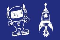 My Style Schablone DIN A5 Astronaut + Rakete (Restbestand)