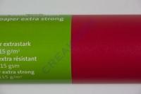 Transparentpapier extra stark Rolle 50x70cm mittelrot