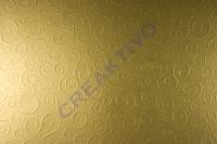 Bastelkarton Milano geprägt 49,5x67,3cm gold
