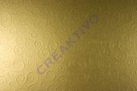 Bastelkarton Milano geprägt DIN A4 gold