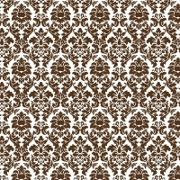 Serie Lush Brown - Brown Damask (Restbestand)