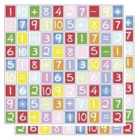 Scrapbooking Papier Buchstaben / Zahlen (Restbestand)