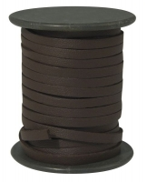 Kunstlederband flach 4mm braun Meterware