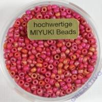 Miyuki Beads 2,2mm 8g rainbow ruby opaque matt