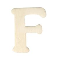 Holz-Buchstabe 4cm F