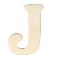 Holz-Buchstabe 4cm J