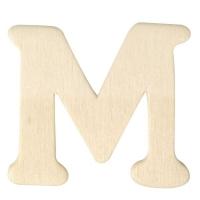 Holz-Buchstabe 4cm M