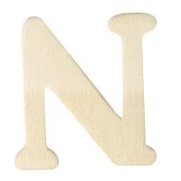 Holz-Buchstabe 4cm N