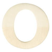 Holz-Buchstabe 4cm O