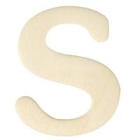 Holz-Buchstabe 4cm S