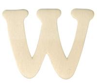 Holz-Buchstabe 4cm W
