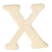 Holz-Buchstabe 4cm X