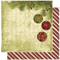 Scrapbooking Papier Noel Ornaments (Restbestand)