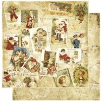 Scrapbooking Papier Noel Postcards (Restbestand)