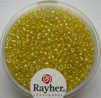 Rocailles 2 mm ø transp. gelüstert gelb