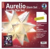 Aurelio Stern Set 30x30cm transparent weiß