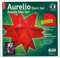 Aurelio Stern Set 30x30cm transparent rot