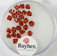 Swarovski Kristall-Schliffperlen 4mm 25St red magma (Restbestand)