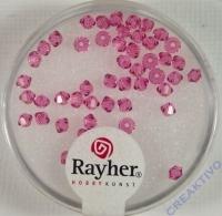 Rayher Swarovski Kristall-Schliffperlen 3mm rosa chiffon